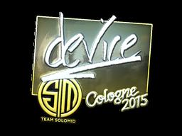Наклейка | device (металлическая) | Кёльн 2015
