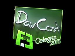 Наклейка | DavCost (металлическая) | Кёльн 2015