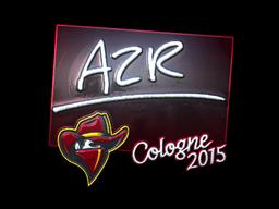 Наклейка | AZR (металлическая) | Cologne 2015