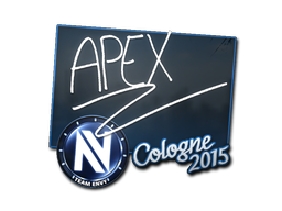 Наклейка   apEX   Кёльн 2015