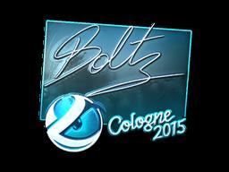 Наклейка | boltz (металлическая) | Кёльн 2015