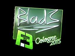 Наклейка | B1ad3 (металлическая) | Кёльн 2015