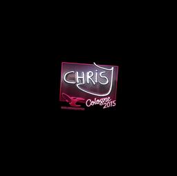 Sticker | chrisJ (Foil) | Cologne 2015