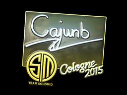 Наклейка | cajunb (металлическая) | Cologne 2015