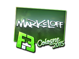 Наклейка | markeloff (металлическая) | Кёльн 2015