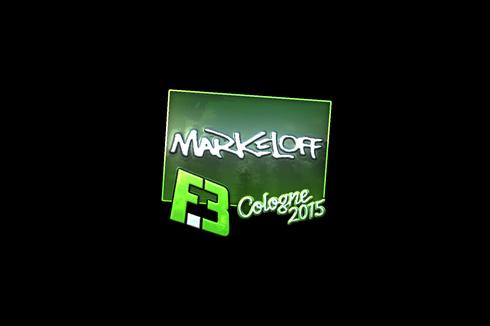 Sticker | markeloff (Foil) | Cologne 2015 Prices