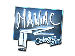 Наклейка | Maniac (металлическая) | Кёльн 2015