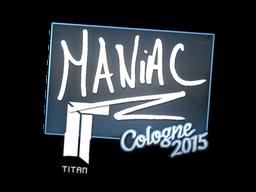 Наклейка | Maniac | Кёльн 2015