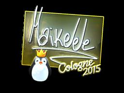 Наклейка | Maikelele (металлическая) | Кёльн 2015