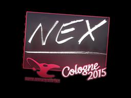 Наклейка | nex | Кёльн 2015