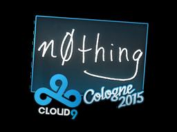 Наклейка | n0thing | Кёльн 2015