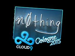 Наклейка | n0thing (металлическая) | Кёльн 2015