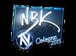 Sticker NBK- (Foil) | Cologne 2015