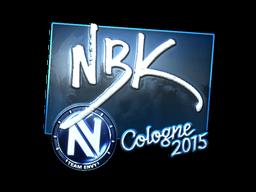Наклейка | NBK- (металлическая) | Кёльн 2015