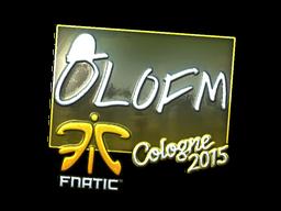 Наклейка   olofmeister (металлическая)   Кёльн 2015