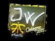 Sticker JW (Foil)   Cologne 2015