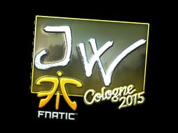 Наклейка | JW (металлическая) | Кёльн 2015