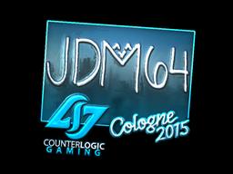 Наклейка | jdm64 (металлическая) | Cologne 2015