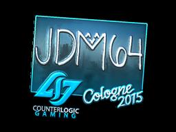 Наклейка | jdm64 (металлическая) | Кёльн 2015
