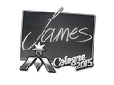 Sticker | James | Cologne 2015