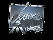 Sticker James (Foil) | Cologne 2015