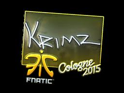 Наклейка | KRIMZ (металлическая) | Кёльн 2015