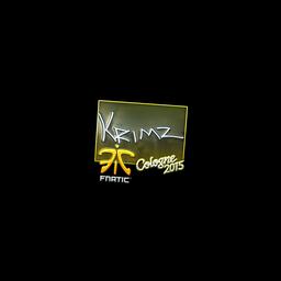 Sticker   KRIMZ (Foil)   Cologne 2015