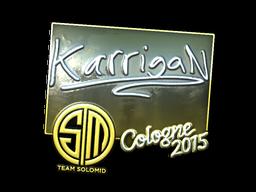 Наклейка | karrigan (металлическая) | Кёльн 2015