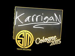 Наклейка | karrigan | Кёльн 2015