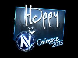 Наклейка | Happy (металлическая) | Кёльн 2015