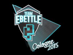 Наклейка | Team eBettle | Кёльн 2015