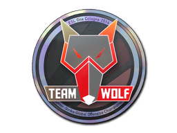 Sticker | MTS GameGod Wolf (Holo) | Cologne 2014