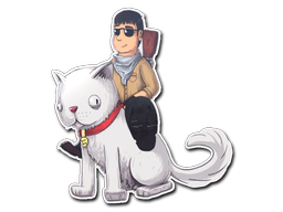 Sticker | T On Cat