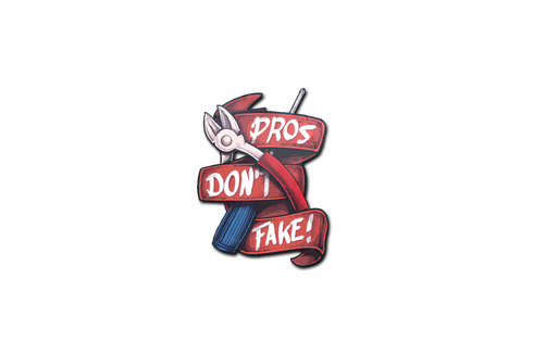 Buy Sticker | Pros Don't Fake