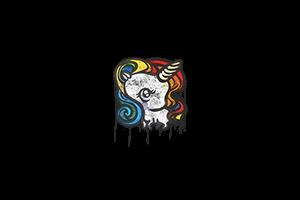 Sealed Graffiti Unicorn