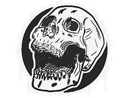 Sealed Graffiti | Rising Skull