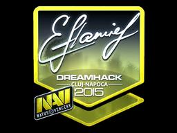 Sticker | flamie (Foil) | Cluj-Napoca 2015