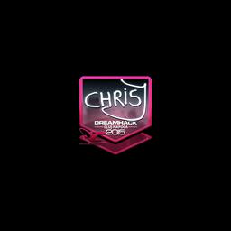 Sticker   chrisJ (Foil)   Cluj-Napoca 2015