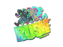 Sticker   Rush 4x20 (Holo)