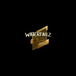 Sticker | waterfaLLZ (Gold) | Boston 2018