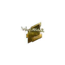 Sticker | wayLander (Gold) | Boston 2018