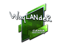 Sticker | wayLander (Foil) | Boston 2018