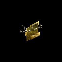 Sticker | WorldEdit (Gold) | Boston 2018