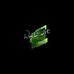 Sticker   WorldEdit (Foil)   Boston 2018