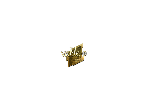 Sticker | v4lde (Gold) | Boston 2018