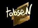 Sticker   tabseN (Gold)   Boston 2018