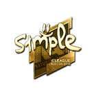 Sticker | s1mple (Gold) | Boston 2018