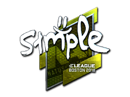 Sticker | s1mple (Foil) | Boston 2018