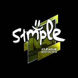 s1mple (Foil) | Boston 2018