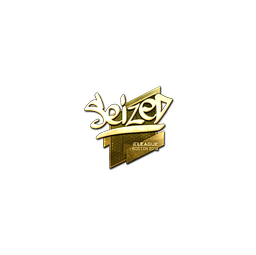 Sticker | seized (Gold) | Boston 2018